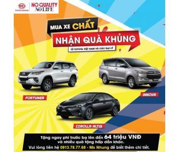 Khuyến mãi khủng tháng 9,10 của Toyota Việt Nam cho khách hàng Innova, Fortuner, Altis