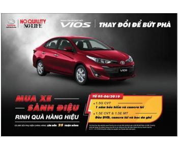 Mua Xe Sành Điệu - Rinh Quà Hàng Hiệu, chương trình khuyến mãi mùa hè của Toyota Việt Nam cho dòng xe Toyota Vios 2019
